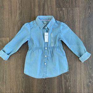 NWT Baby Gap Chambray Long Sleeve Shirt, 5T